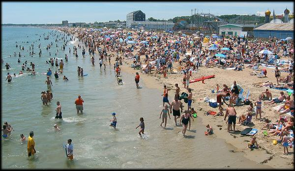 Old Orchard Beach on July 4th