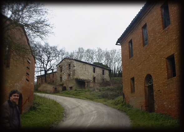 A deserted town near Asciano in Tuscany